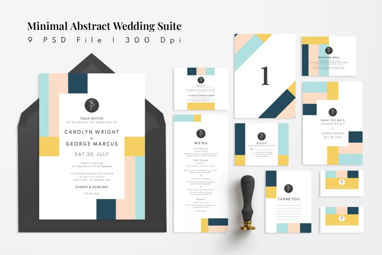 Minimal Abstract Wedding Suite example image 1