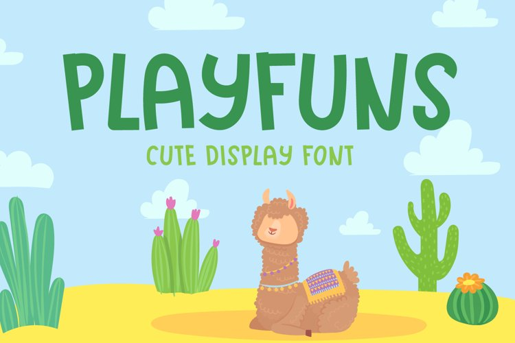 Playfuns - Cute Display Font example image 1
