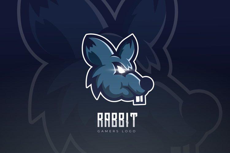 Rabbit Mascot And Esport Logo example image 1
