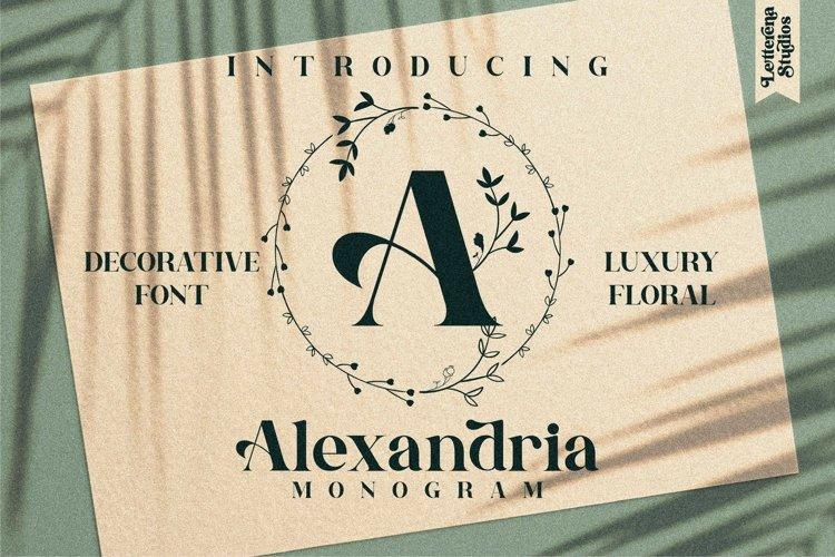 Alexandria Monogram Font example image 1