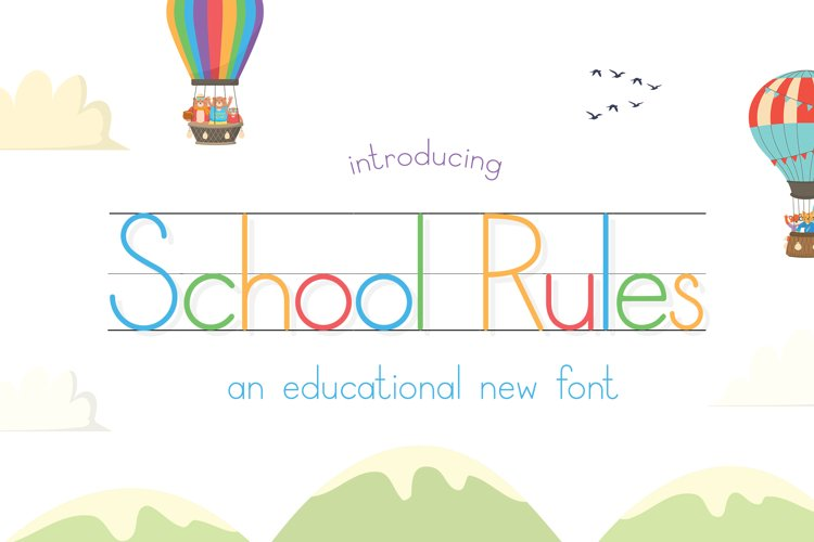 School Rules Font example image 1