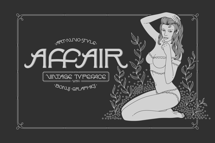 Affair Typeface & Graphics example image 1