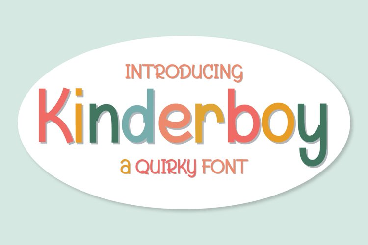 Kinderboy | Quirky Font example image 1