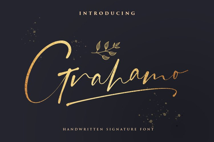 Grahamo - Luxury Script example image 1