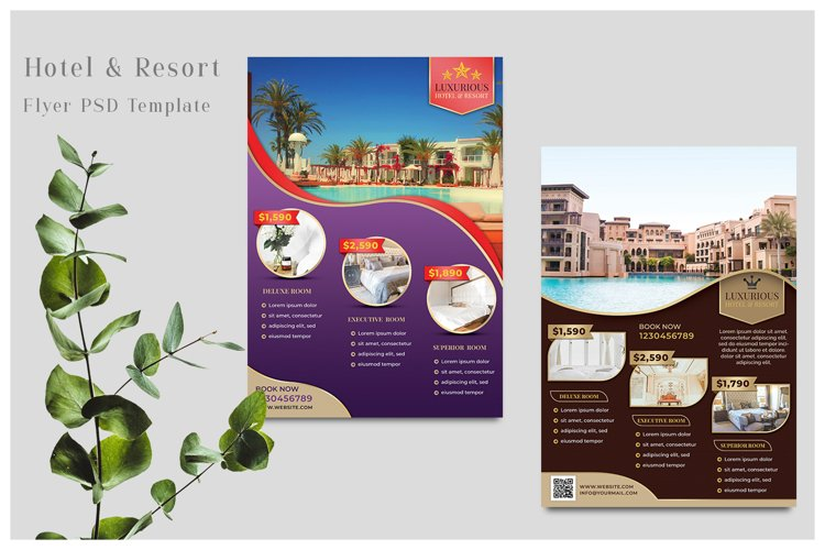 Hotel Flyer Templates example image 1