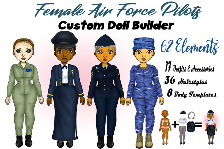 Air Force Veteran Woman Best Friends Clipart Fashion PNG