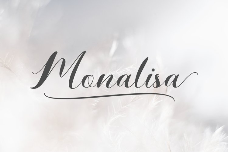 Monalisa // Script Calligraphy