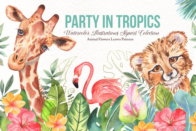 Watercolor Tropical Party