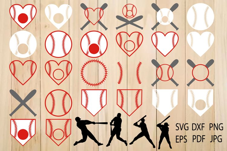 Baseball SVG, Softball, Baseball Monogram Frames example image 1