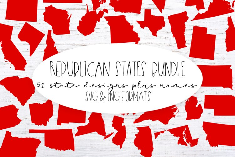 The Republican United States Bundle -PNG Clip Art and SVG cu example image 1
