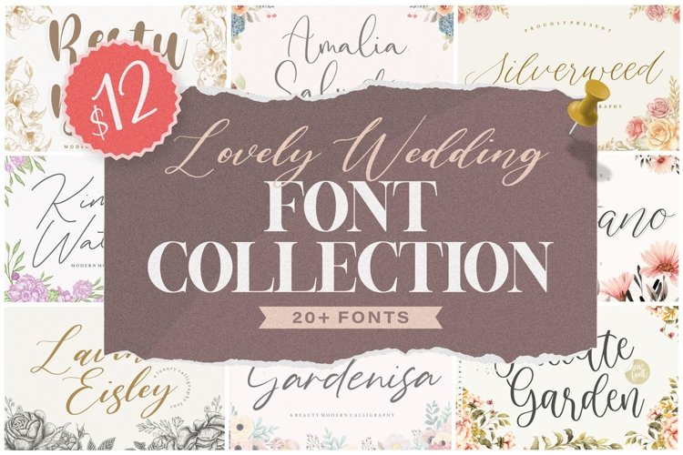 Lovely Wedding Font Collection example image 1
