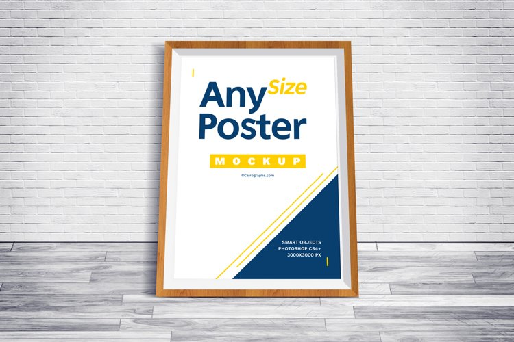 Posters Frames Mockups example 2