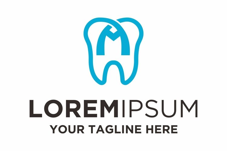 Dentist health letter M logo design example image 1