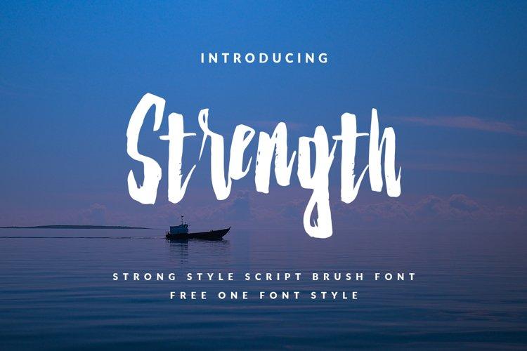 Strenght Script Brush example image 1