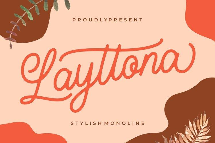 Layttona Stylish Monoline example image 1