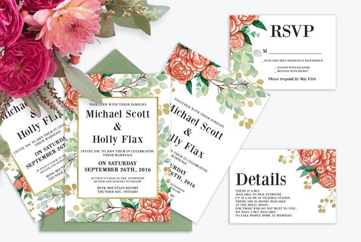 Summer Watercolor Wedding Suite