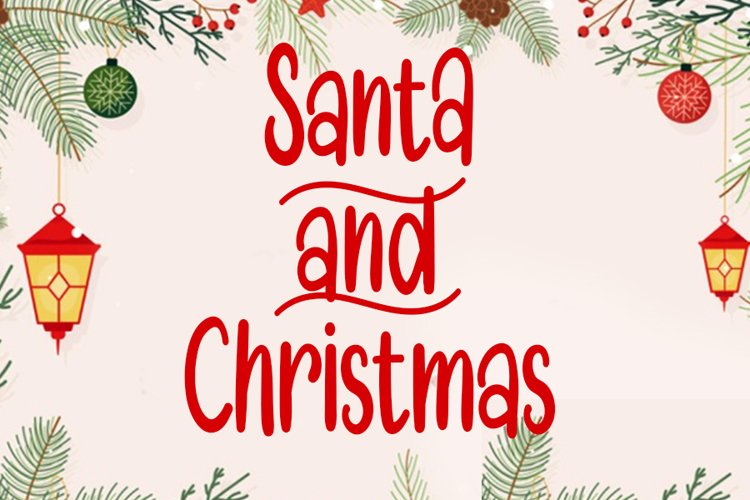 Santa and Christmas |Beautiful Christmas Font example image 1