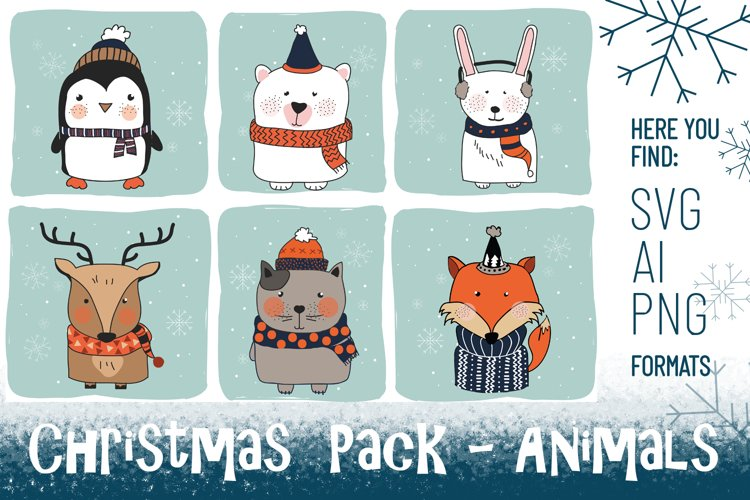 Christmas Pack - Animals example image 1