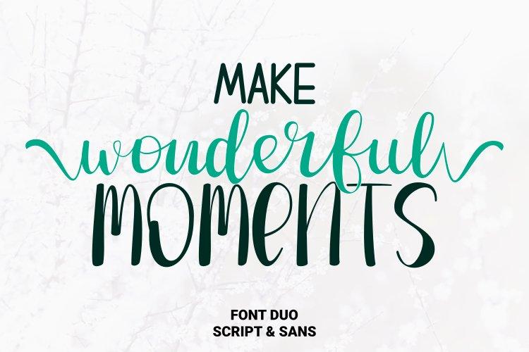 Make Wonderful Moments - Duo Font example image 1