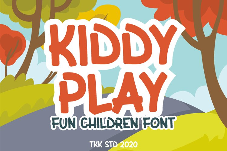 Kiddy Play - Kids Gaming font example image 1