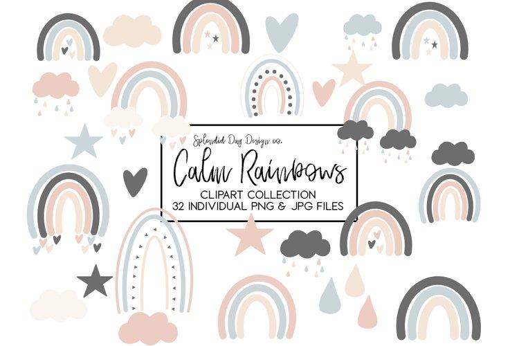 Neutral rainbow clip art example image 1