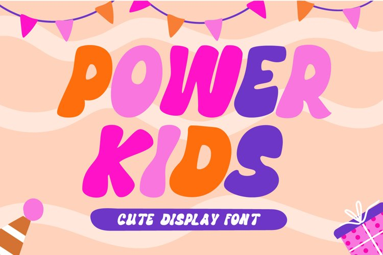 Power Kids - Cute Display Font example image 1