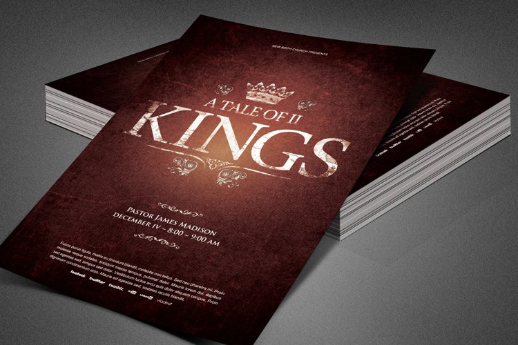 A Tale of Two Kings Church Flyer example image 1
