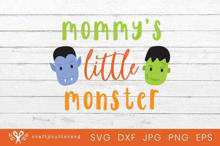 Mommys Little Monster Halloween Svg Cut File Clipart