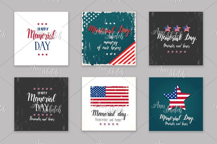 Memorial Day card set.