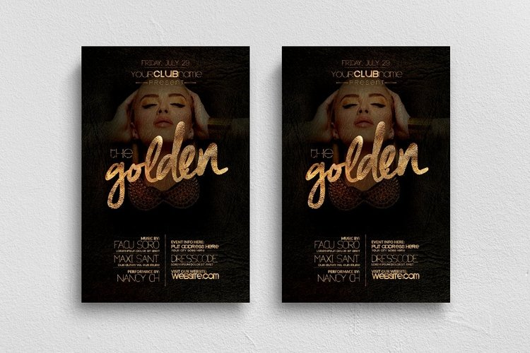 The Golden Flyer Template
