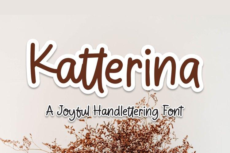 Katterina - Joyful Handlettering Font example image 1