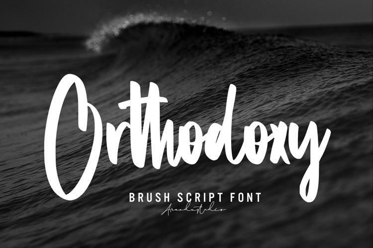 Orthodoxy - Brush Script Font example image 1