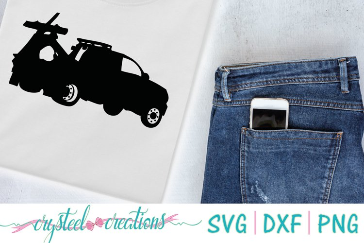 Tow Truck SVG, DXF, PNG example image 1