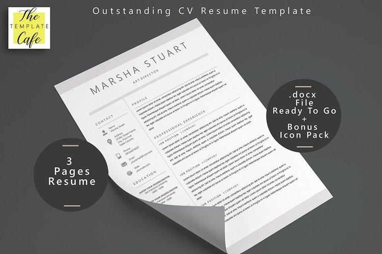 Elegant MS Word Resume  example image 1