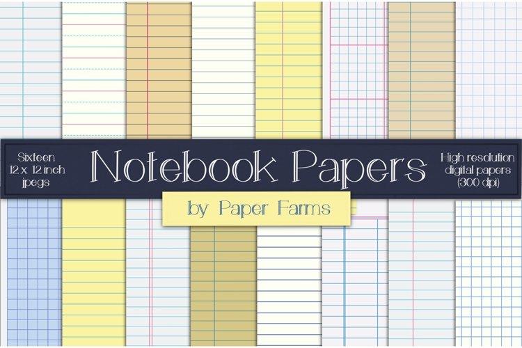 Notebook digital paper example image 1