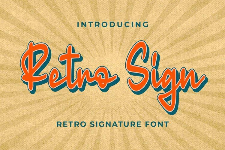 Retro Sign - Retro Signature Font example image 1