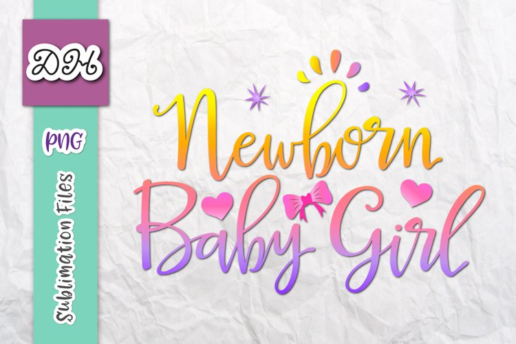 Newborn Baby Girl Take home Outfit Sign Sublimation Print