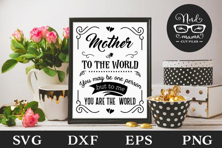 Mother SVG Cut File