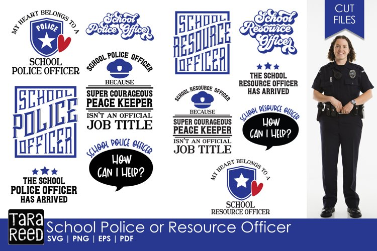 Download School Police Or Resource Officer School Svg And Cut Files 234395 Cut Files Design Bundles