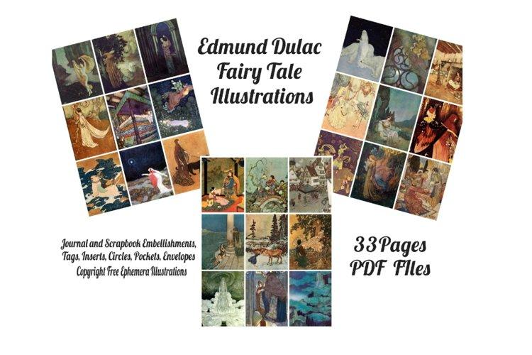 Edmund Dulac Vintage Fairy Tale Images 2 Journal Art PDF example image 1