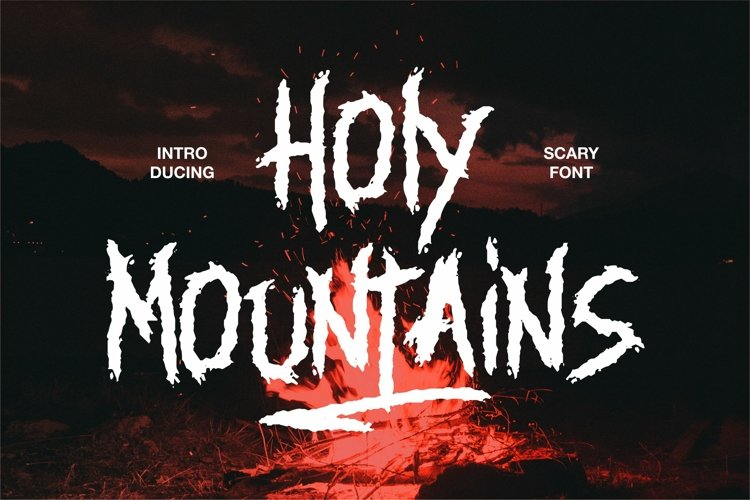 Holy Mountains - Scary Font example image 1