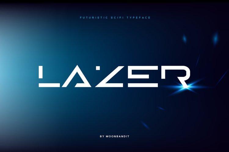 Lazer - Modern futuristic scifi font