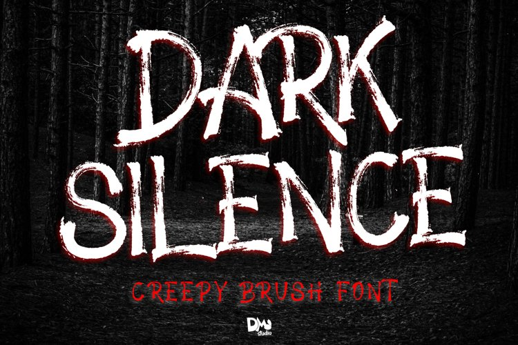 Dark Silence - Creepy Brush Font example image 1