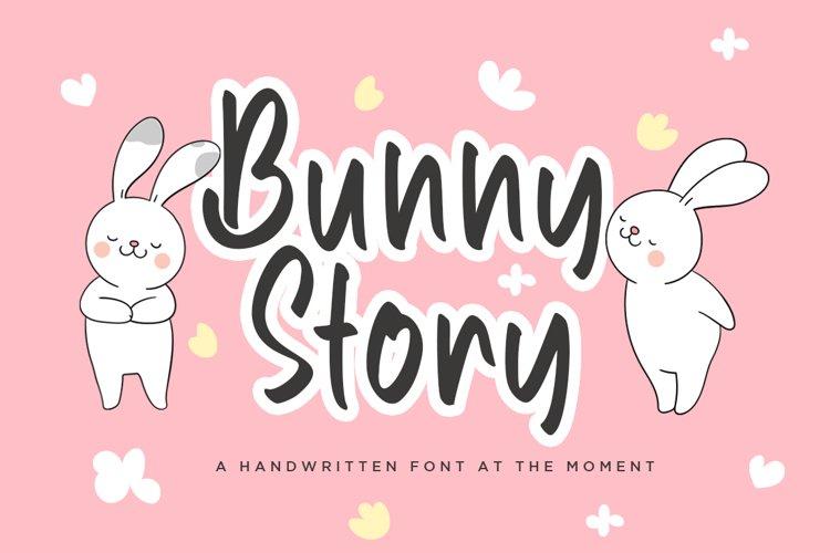 Bunny Story Handwritten Font example image 1