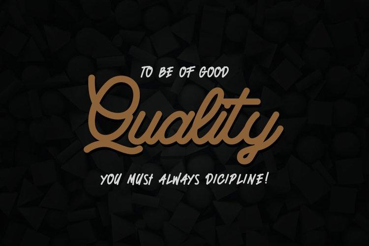 Quetty - Monoline & Handwrite Font example image 1