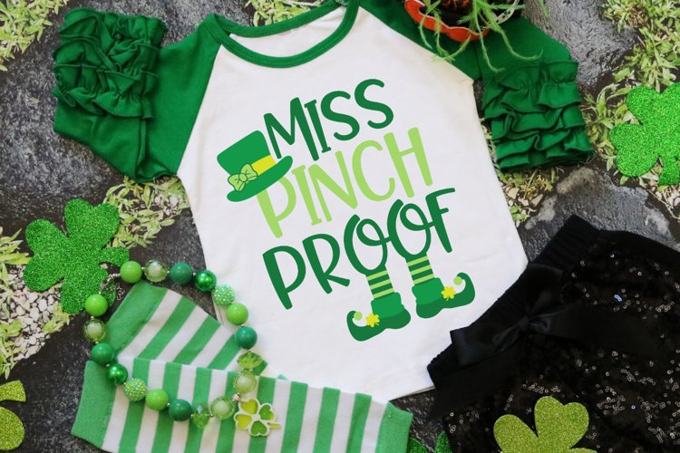 Miss Pinch Proof - St Patrick's Day SVG example image 1
