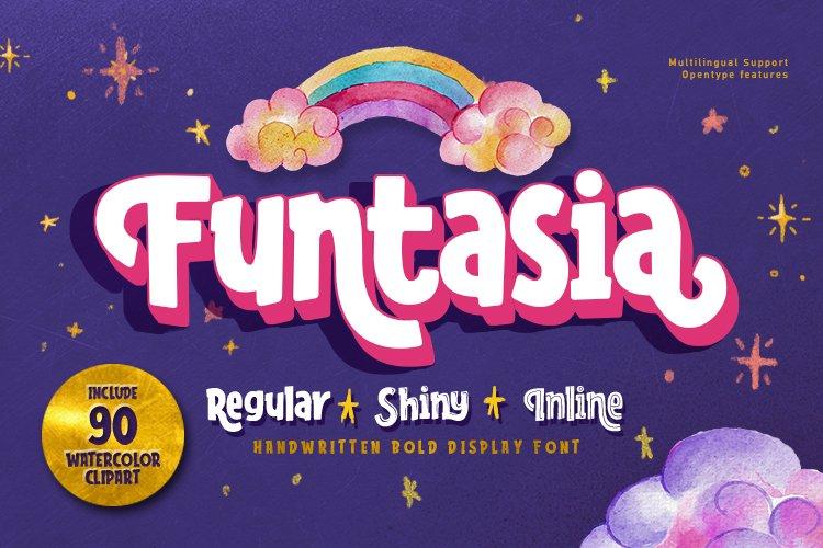 Funtasia font family plus EXTRAS