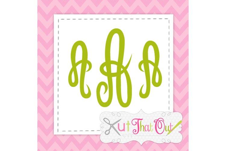 Empress Monogram Font SVG & DXF Cut File example image 1