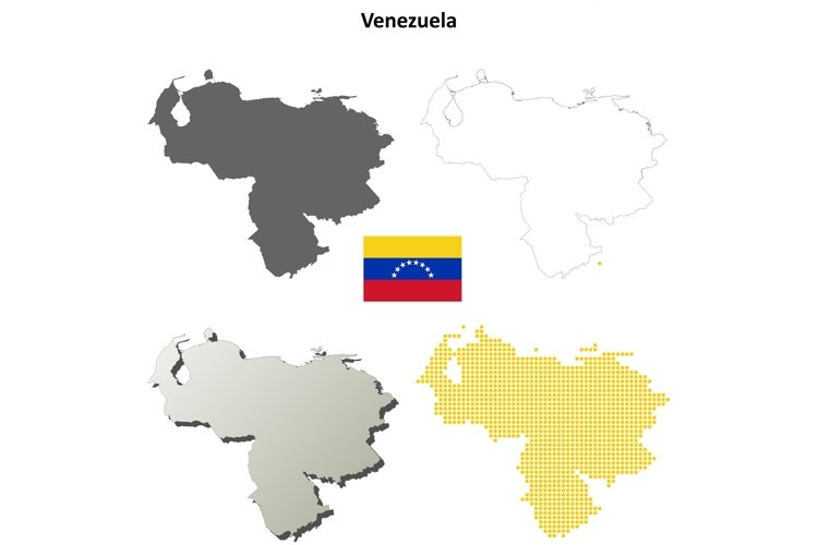 Venezuela outline map set example image 1