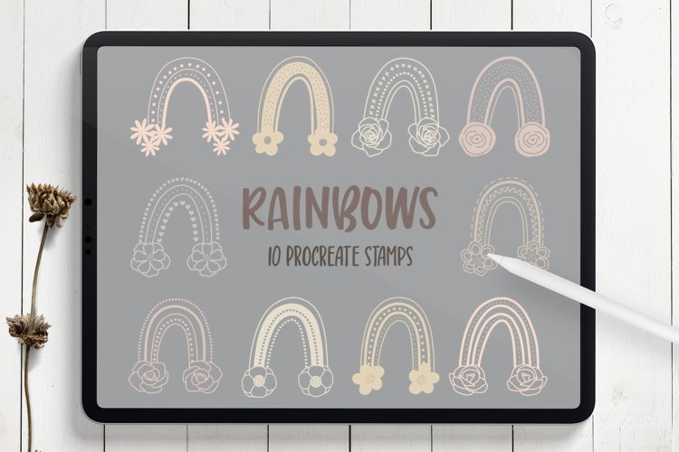 Rainbow Procreate Stamp Brushes